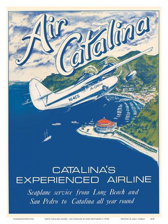 Santa Catalina Island, California - Grumann Goose Airplane - Air Catalina Airline Posters by Gary Miltimore