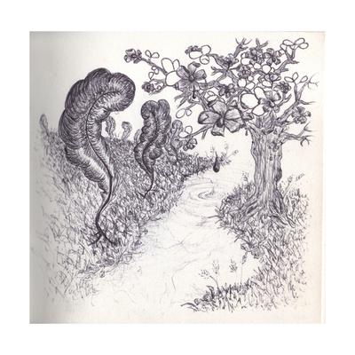 Transiently Passing, Wonderland Giclee Print by Lubna Speitan