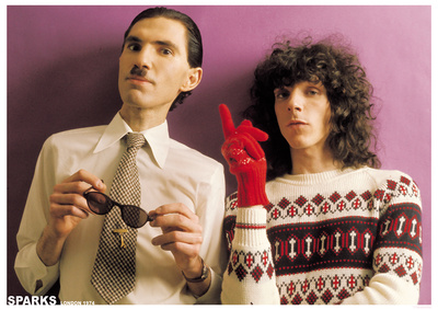 Sparks- Ron & Russell Mael, 1974 Print