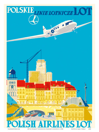 Polish Airlines LOT (Polskie Linie Lotnicze) Posters