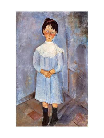 Girl in Blue, 1918 Giclee Print by Amedeo Modigliani