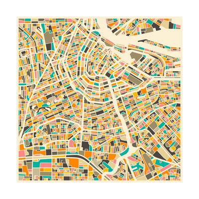 Amsterdam Map Art by Jazzberry Blue
