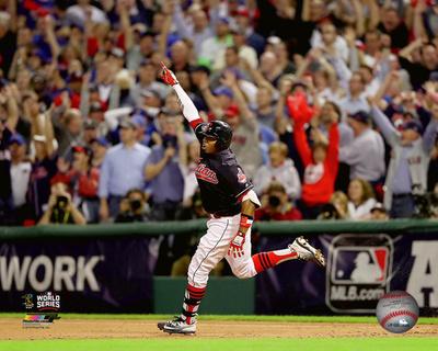 Rajai Davis Game Tying Home Run Game 7 of the 2016 World Series Photo