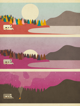 Campfire Prints by Jazzberry Blue