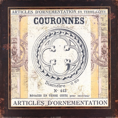 Couronnes Prints by Stephanie French