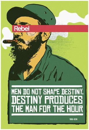 Destiny Produces The Man - Verde Posters