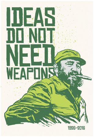 Ideas Not Weapons - Verde Plakát