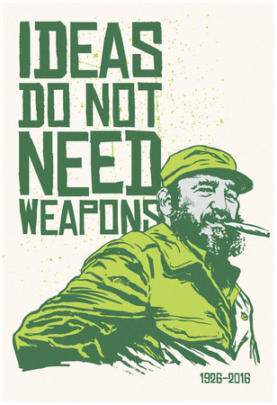 Ideas Not Weapons - Verde Prints