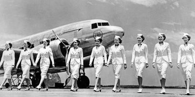 Stewardesses of Trans World Airlines, 1938 Photographic Print by Scherl Süddeutsche Zeitung Photo