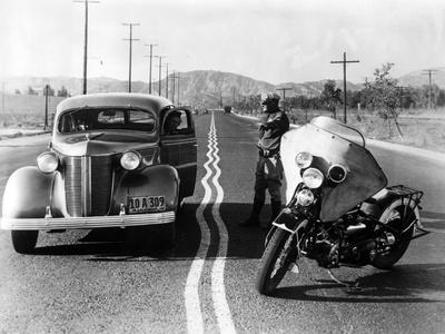 Zigzag Mark on a Highway, 1936 Photographic Print by  Süddeutsche Zeitung Photo