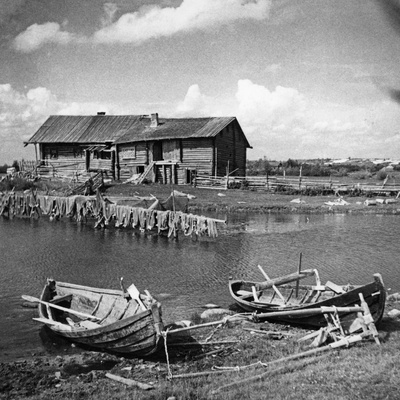 Fishing Boats in Karelia, 1930s Photographic Print by Scherl Süddeutsche Zeitung Photo