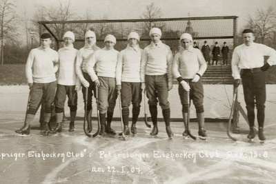 Ice Hockey Team of the Leipzig Sports Club, 1907 Photographic Print by Scherl Süddeutsche Zeitung Photo