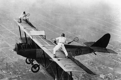 Tennis on a Plane, 1925 Photographic Print by Scherl Süddeutsche Zeitung Photo
