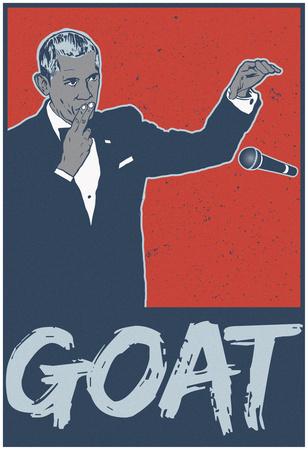 Obama - Goat POTUS Póster