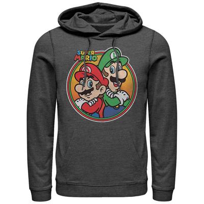Hoodie: Super Marios Bros- Super Bro Button Pullover Hoodie