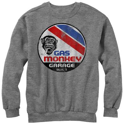 Crewneck Sweatshirt: Gas Monkey- Distressed Le Mans Button Tシャツ