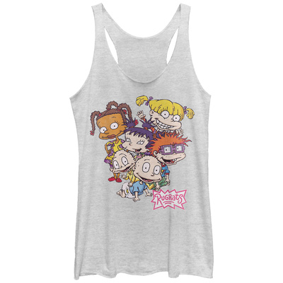 Juniors Tank Top: Rugrats- All Together Scoop Neck Womens Tank Tops