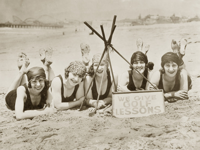 Women on a Beach in California, 1927 Metal Print by Scherl Süddeutsche Zeitung Photo