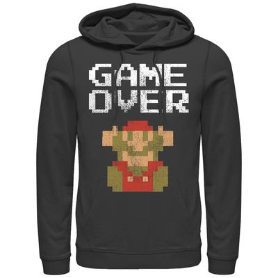 Hoodie: Super Marios Bros- Classic Distressed Game Over Pullover Hoodie