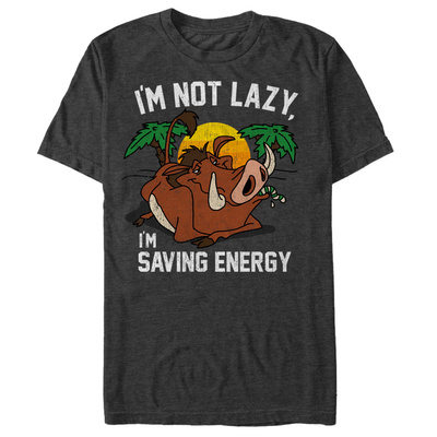 Disney: The Lion King- Pumbaa Saving Energy T-Shirt
