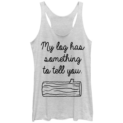 Juniors Tank Top: Twin Peaks- The Log Has Something To Say Scoop Neck Womens Tank Tops