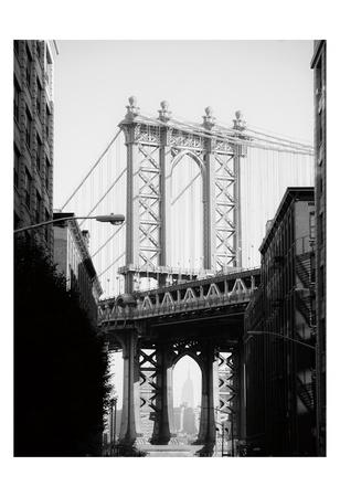 Manhattan Bridge 1 Print by Sonja Quintero