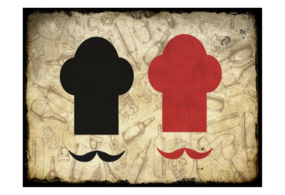 Black and Red Chef Posters by Kimberly Allen