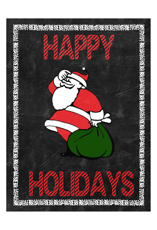 Happy Holidays Posters by Sheldon Lewis