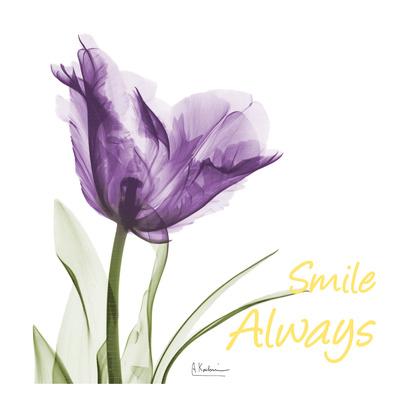 Smile Always Tulip Print by Albert Koetsier