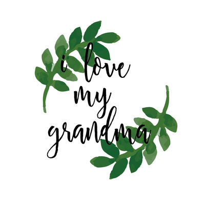 Grandma Love Prints by Jelena Matic