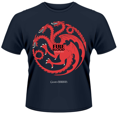 Game Of Thrones- Fire And Blood Button Sigil T-Shirt