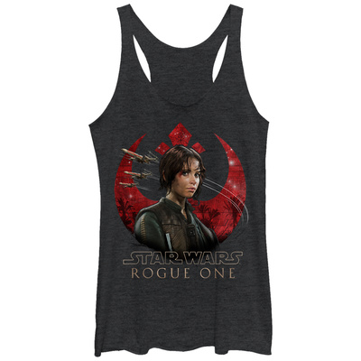 Juniors Tank Top: Star Wars: Rogue One- Jyn Erso Rebel Pheonix Emblem Shirts
