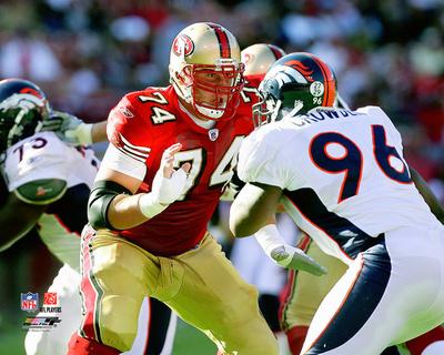 NFL: Joe Staley 2007 Action Photo