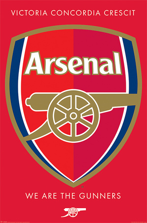 Arsenal FC - We are the Gunners Crest Prints