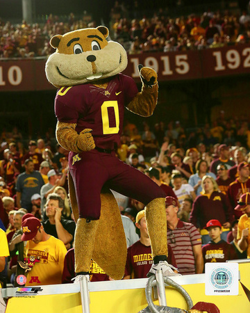 NCAA: Goldy the Gopher University of Minnesota Golden Gophers Mascot 2016 Photo