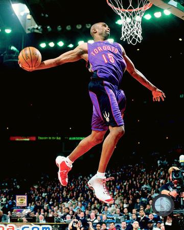 NBA: Vince Carter 2000 NBA All-Star Slam Dunk Contest Action Photo