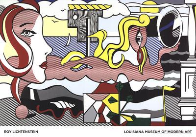 Figures in Landscape Art by Roy Lichtenstein