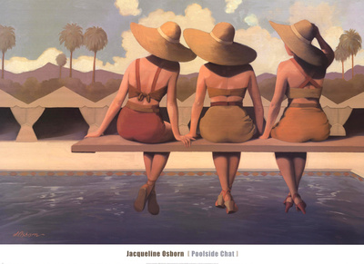 Poolside Chat Poster by Jacqueline Osborn