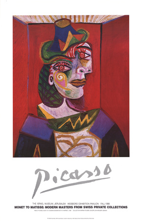 Bust of a Woman (Woman with a Hairnet) Posters by Pablo Picasso