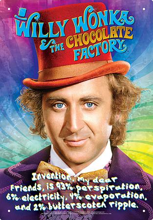 Willy Wonka - Recipe Tin Sign