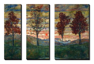 Four Trees, 1917 Prints by Egon Schiele