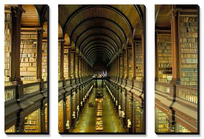 Gallery of the Old Library, Trinity College, Dublin, County Dublin, Eire (Ireland) Obrazy panelowe na płótnie