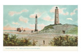 New and Old Lighthouses, Cape Henry, Virginia, Art Print