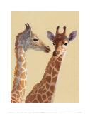 Giraffes Poster by Noelle Triaureau