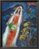 La novia (La Mariee) Póster por Marc Chagall
