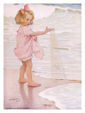Young Girl in the Ocean Surf Impresso gicle por Jessie Willcox-Smith