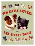 Ten Little Kitties and Puppies Giclee Print