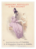 Chansons Nouvelles Piano Song Gicleetryck av Roedel
