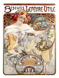 Lefevre-Utile Biscuits Giclee Print by Alphonse Mucha