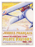 Pilote d' Aviationes Military Aviation Giclee-vedos